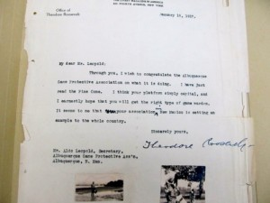 Leopold letter from Teddy Roosevelt