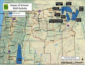 Oregon Wolf Use Map