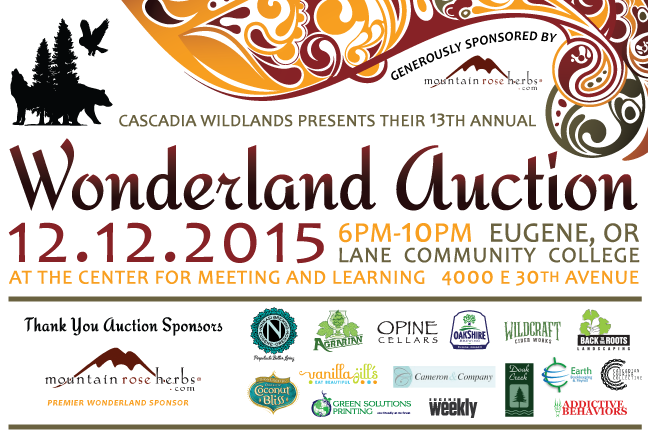 13th Annual Wonderland Auction : Sat. Dec. 12, 2015 from 6 - 10PM