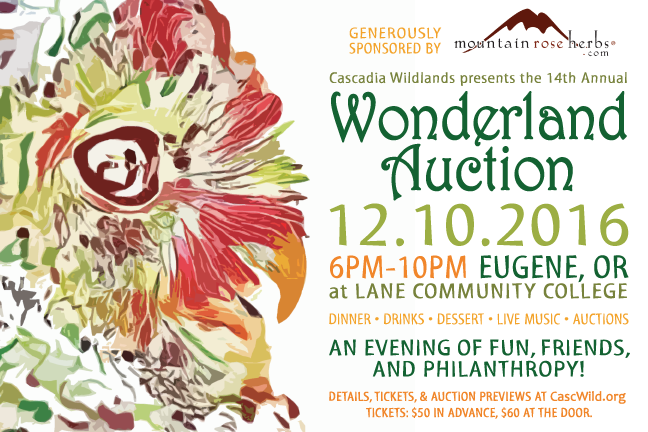 Date set for 14th annual Wonderland Auction - Saturday, December 10, 2016.