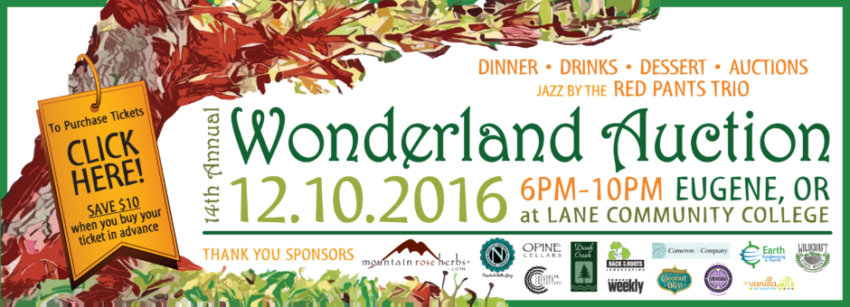 Join us for 14th annual Wonderland Auction - Saturday, December 10, 2016