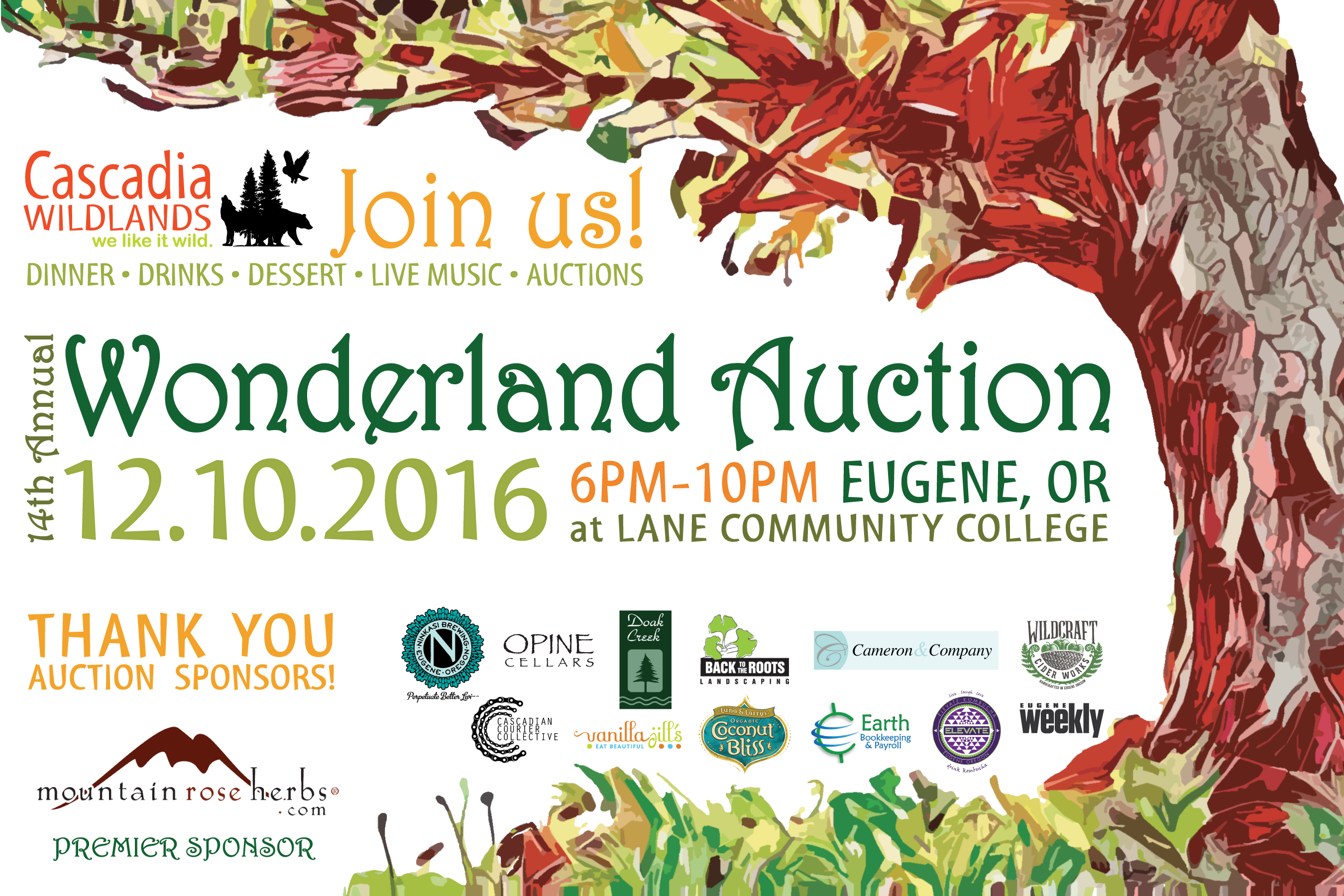 Join us for 14th annual Wonderland Auction - Saturday, December 10, 2016.