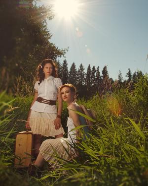 Douglas County Daughters in field.