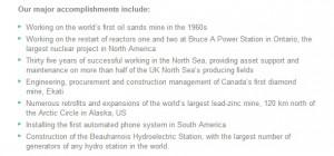 AMEC Accomplishments