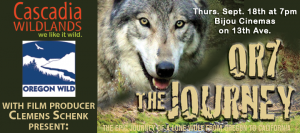 OR-7 The Journey : Eugene film premiere Sept. 18, 2014 at 7pm