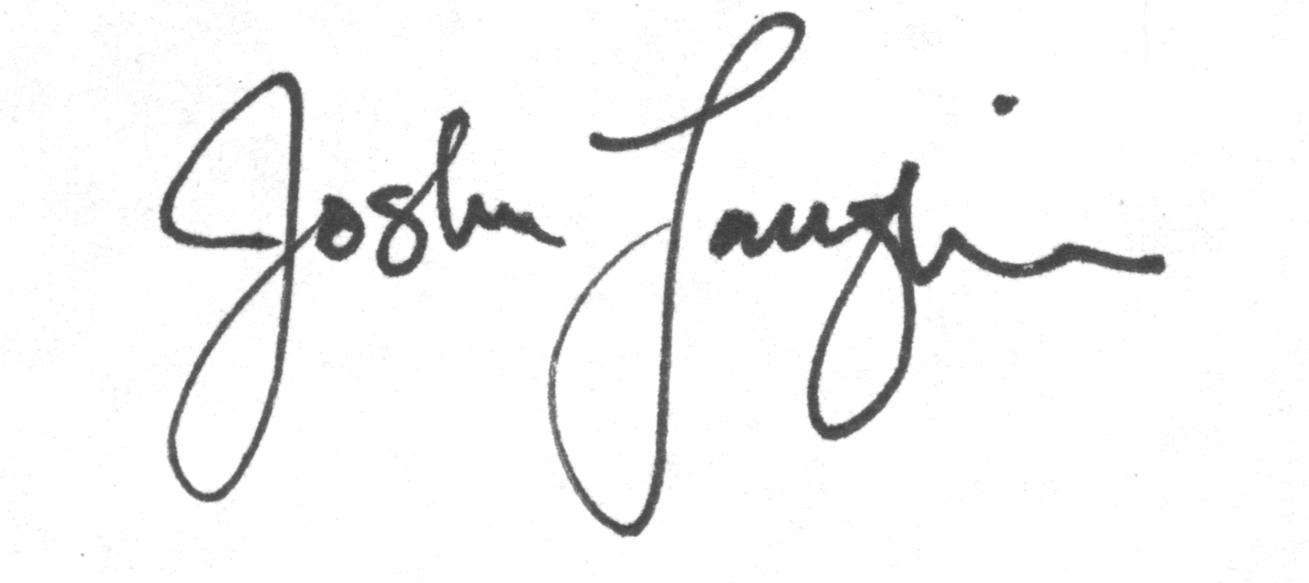 Josh Laughlin Signature