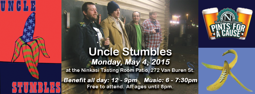 Uncle Stumbles plays on the Ninkasi Tasting Room Patio Monday, May 4, 2015