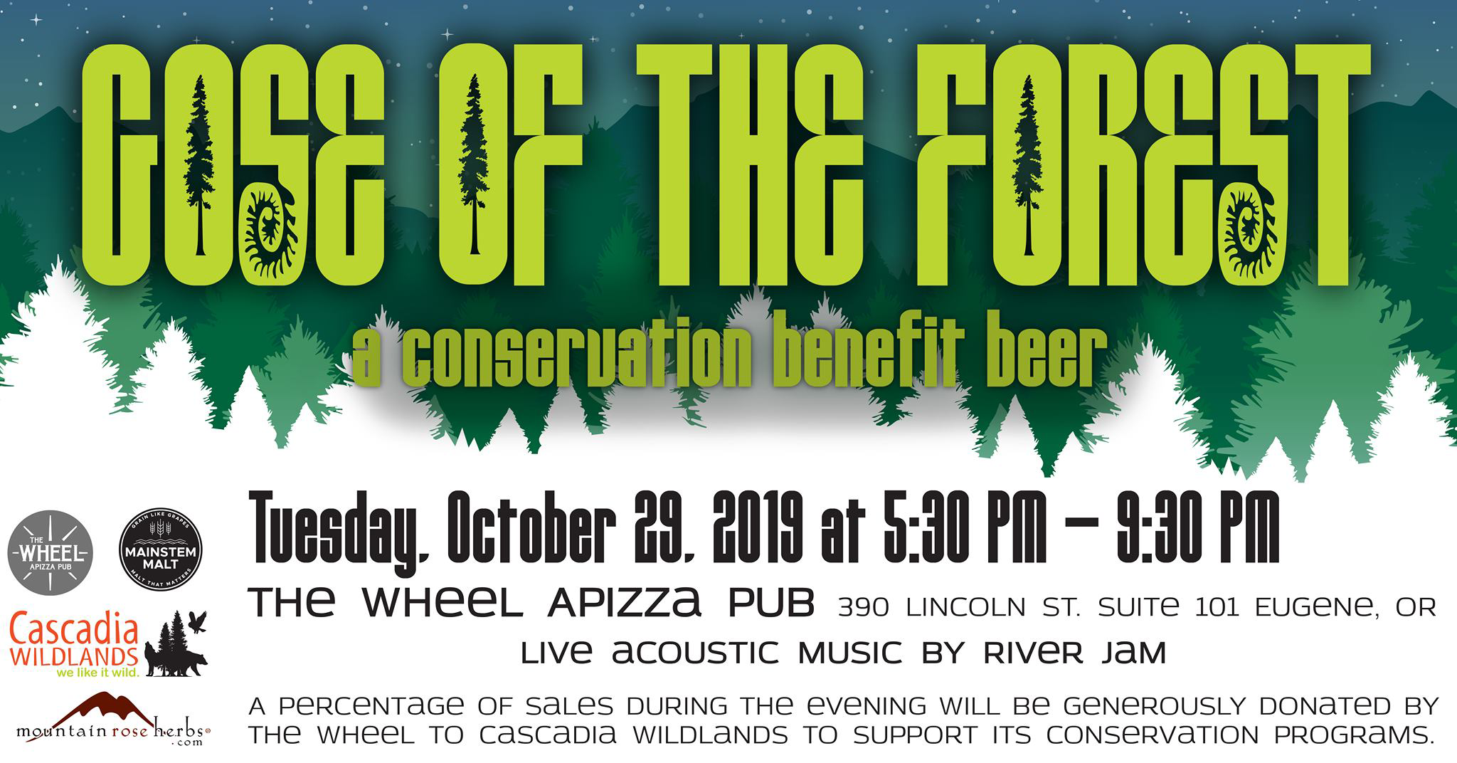 Beer Benefit at The Wheel Apizza Pub- October 29, 2019