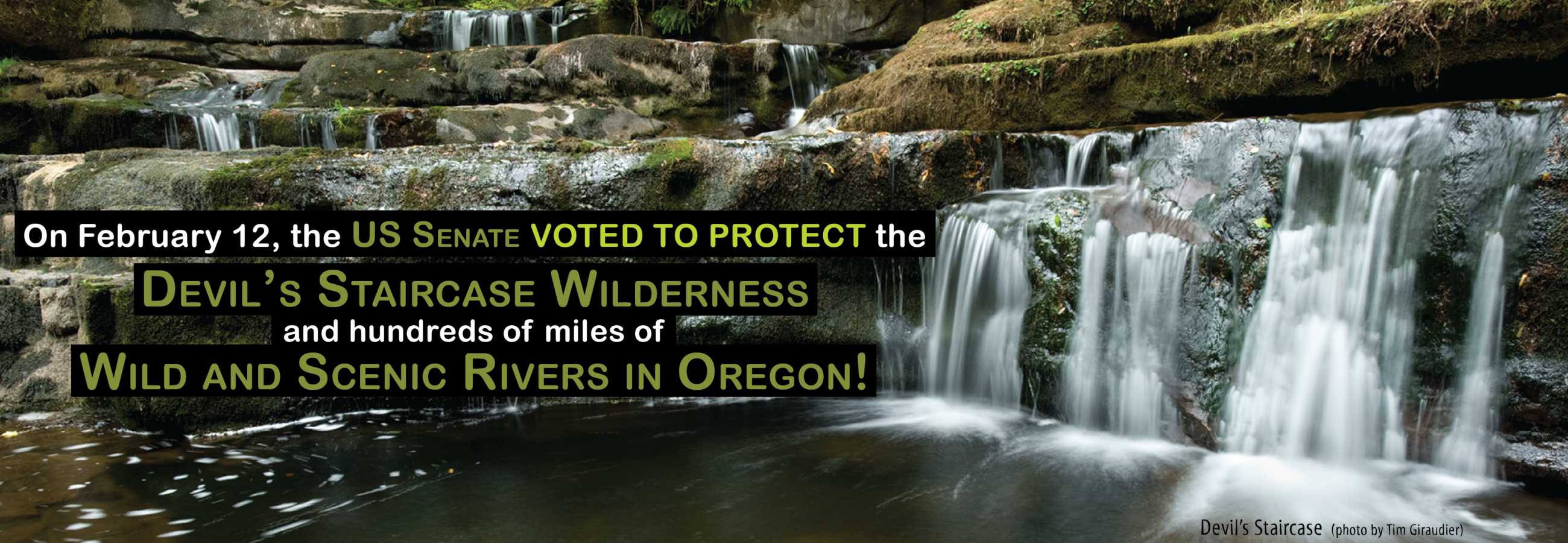 On February 12, the US Senate voted to protect the Devil's Staircase Wilderness and hundreds of miles of Wild and Scenic Rivers in Oregon! (photo by Tim Giraudier)