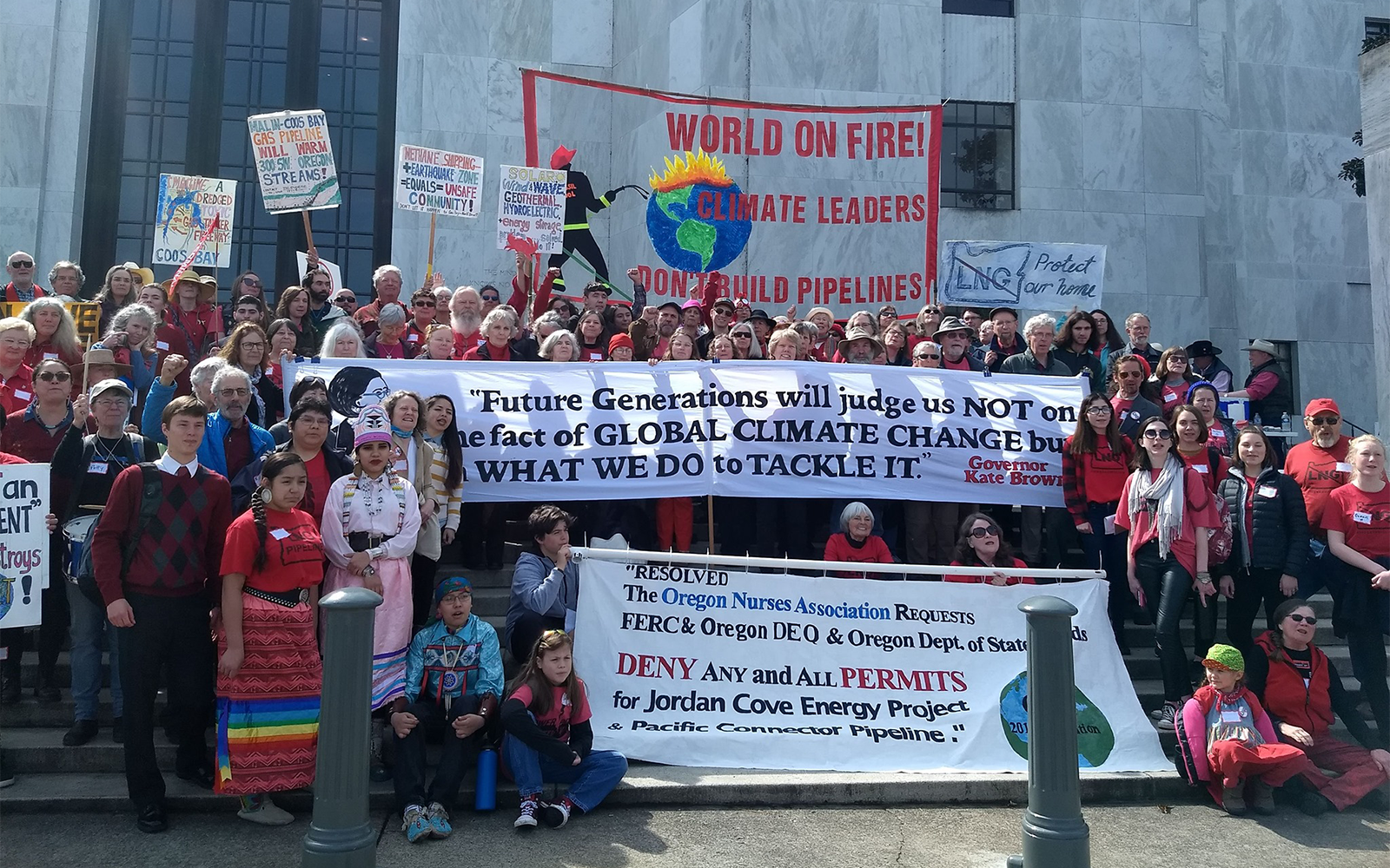 Organizations opposing Jordan Cove LNG thank Oregon leaders