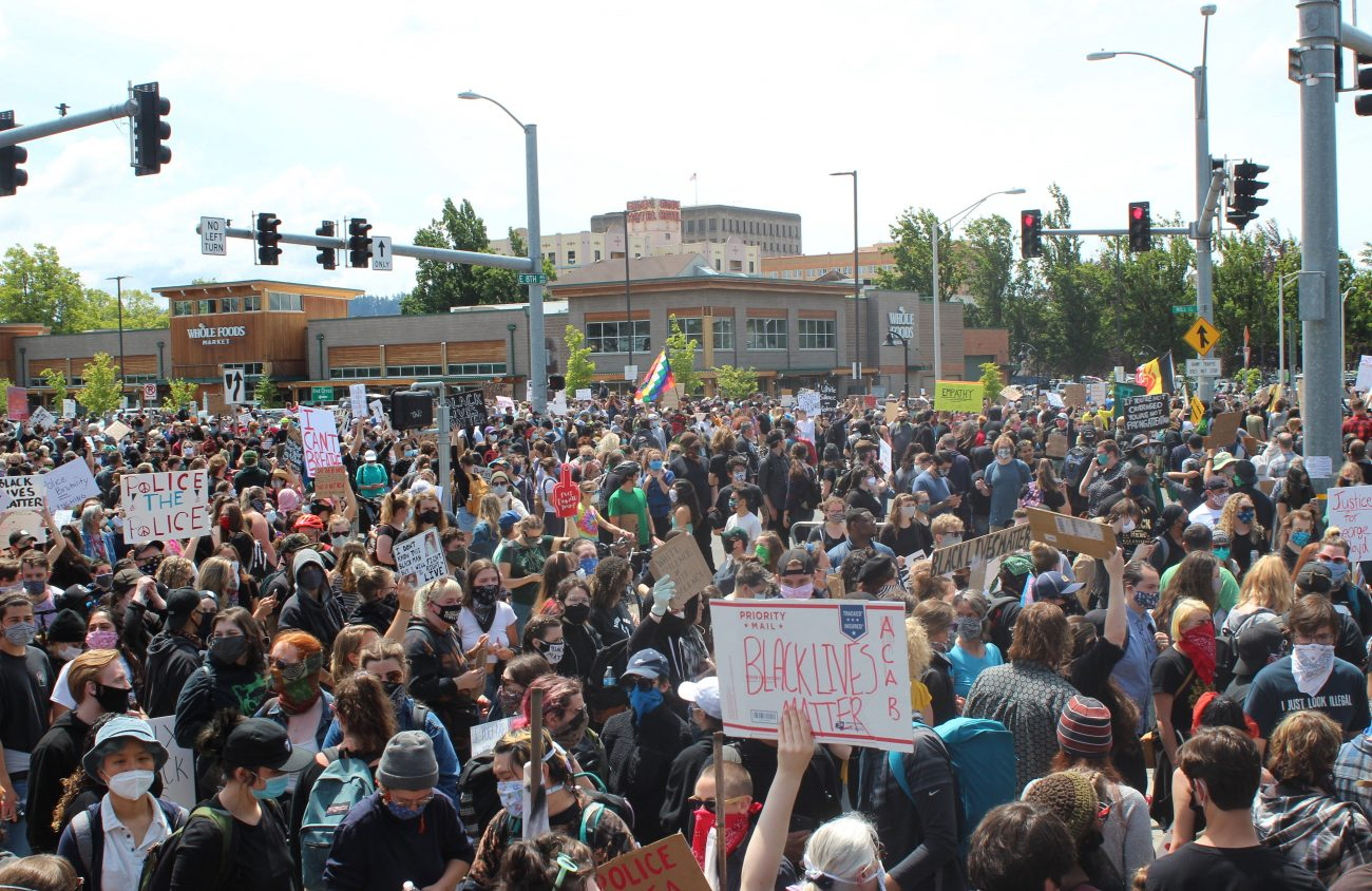 Black Lives Matter rally in Eugene Photo by Frankie Kerner